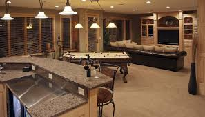 fantastic game room as perfect basement finising ideas with black