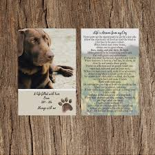 dog memorial memorial cards for dogs weprint ie