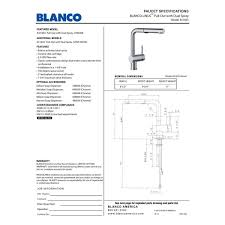 blanco 441403 linus polished chrome pullout spray kitchen faucets