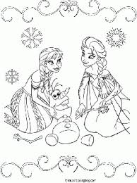 frozen coloring page 6 frozen coloring pages free printable