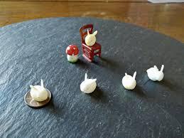summer sale 1 teeny tiny mini kawaii cute vintage bunny rabbit