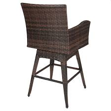 Swivel Wicker Patio Chairs by Outdoor Patio Furniture All Weather Brown Pe Wicker Swivel Bar