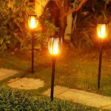 Led Landscaping Lighting Szfc Led Garden Waterproof Outdoor Courtyard L Solar Tiki Torch
