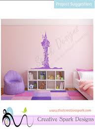 rapunzel fairy tale tower with vines silhouette digital svg image