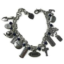 pearl bracelet with silver charm images Charm bracelet beachy dancer designs jpg