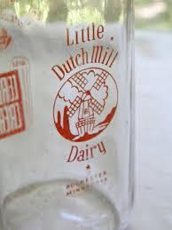 Sun Tan City Rochester Nh Vintage Little Dutch Mill Dairy Rochester Mn Cream Milk Bottle
