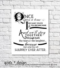 wedding quotes happily after happily after quote print for newlyweds just married