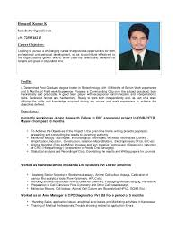 Resume Harvesting Hemanth Kumar K Resume