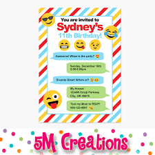emoji birthday party invitations emoji birthday party