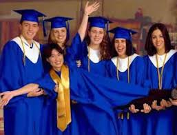 white cap and gown cap and gowns for high school graduations