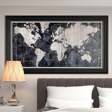 Breathtaking Large Wrought Iron Wall Decor World Map Wall Art