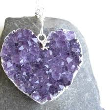 amethyst necklace images Amethyst heart necklace purple quartz pendant in silver jpg