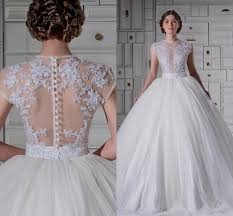 ball gown wedding dresses with lace cap sleeves naf dresses inside