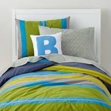 Blue And Green Bedroom Stripe Bedding Sets Foter