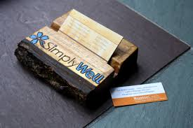 Modern Business Card Case Personalized Business Card Holder Rustic Live Edge Wood Unique