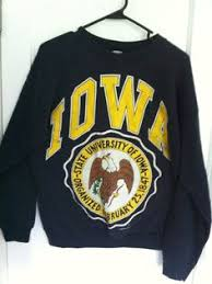 iowa hawkeye sweater vintage collectible souvenir sweatshirt from the of