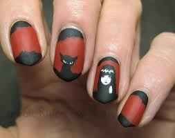 black and red nail art break rules not nails