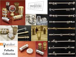 Metal Curtain Rods And Finials Swarovski Crystals In Finials From Duralee Hardware Beautiful