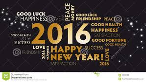 happy new year post card 2016 black and golden postcard happy new year stock photo image