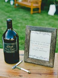 wine bottle guestbook 10 ways to decorate with wine bottles