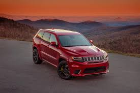 jeep mercedes red first drive 2018 jeep grand cherokee trackhawk ny daily news