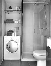 grey curtain in cream bathroom design with brown vanity using