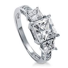 engagement rings silver images Berricle rhodium plated sterling silver cubic zirconia cz 3 stone jpg