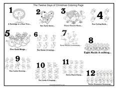 twelve christmas geese layin count color worksheet