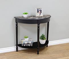 Black Entryway Table Frenchi Home Furnishing Entryway Table With Faux