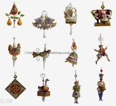 12 days of hallmark ornaments decore