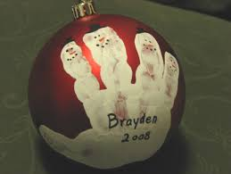 better budgeting ornaments child handprint