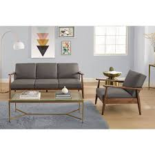 homes gardens better homes and gardens flynn mid century chair wood with linen