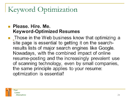 Online Resume Posting by Your Career Alternatives 1 Your Career Alternatives Welcome To The
