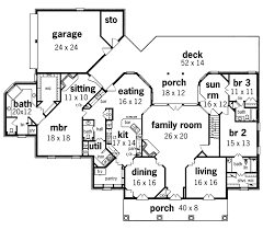 traditional house floor plans whispering manor one home plan 020s 0015 house plans and more