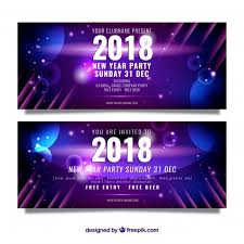 party banner new year party banner in realistic design vector free