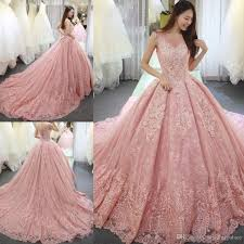 dress pink luxurious pink gown quinceanera dresses appliques lace sweet