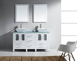 White Double Vanity 60 Virtu Usa Bradford 60 Double Bathroom Vanity Set In White