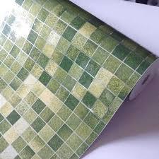 mosaic aluminum foil wall paper wall sticker bath kitchen decor
