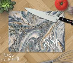 personalized glass cutting board marble personalized glass cutting board monogrammed