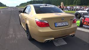 bmw e60 gold bmw m5 v10 e60 w supersprint exhaust revs accelerations