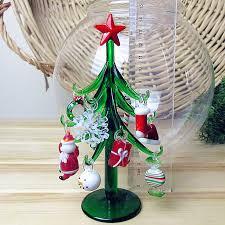 blown glass santa crutches snowflake figurines