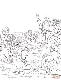 jesus sermon on the mount coloring page free printable coloring