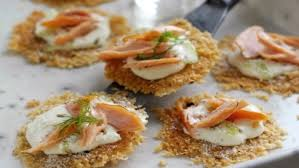 cuisine canapé parmigiano reggiano canapés with smoked salmon recipes food