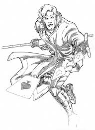 gambit commission sketch by guy bigbelly on deviantart