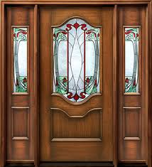 wood doors with glass inserts door with stained glass insert and sidelights splendor in the