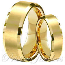 Wedding Rings Gold by His And Hers Tungsten Wedding Bands Ebay