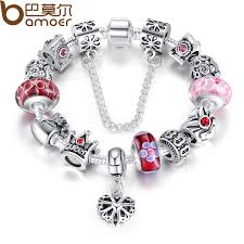 pandora charm bracelet jewelry images Bamoer queen jewelry silver charms bracelet bangles with queen jpg