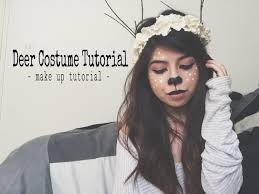 deer costume deer costume tutorial make up