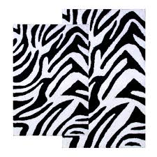 3 Piece Bathroom Rug Set by Zebra Bath Rug Roselawnlutheran