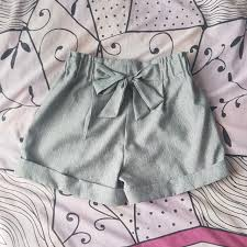 paper bag toddler shorts pattern temt grey paperbag shorts women s fashion clothes pants jeans